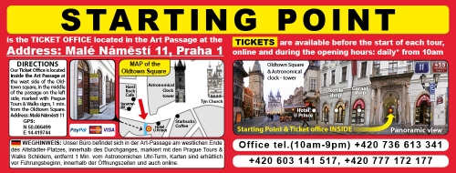 Prague Underground Tours - Starting point